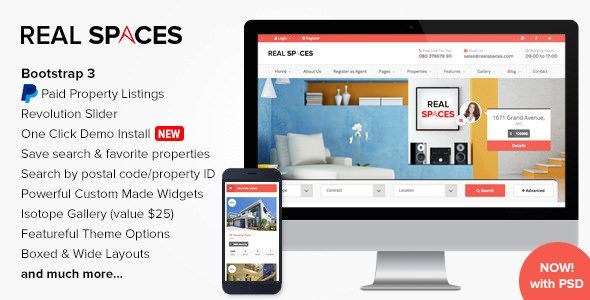 Real Spaces Wordpress Real Estate Theme