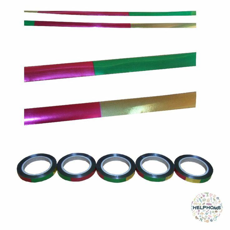 helphome bird scare Repeller Flash Tape 5 Roll set 50m Total length 250m 4 color