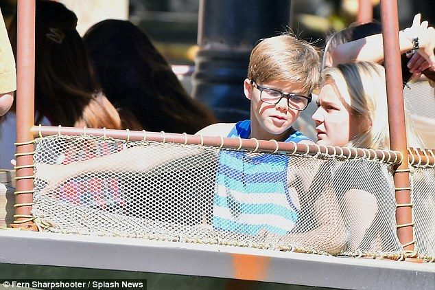 Cool like Cruz:The budding footballer held his actual glasses in hand, before putting the...