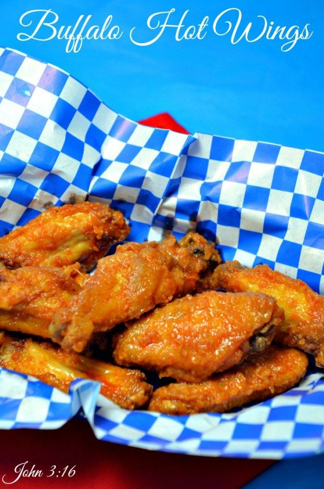 #Buffalo #Chicken #Wings - Fried crispy with a great butter, garlic, hot sauce.  Perfect! #appetizer
