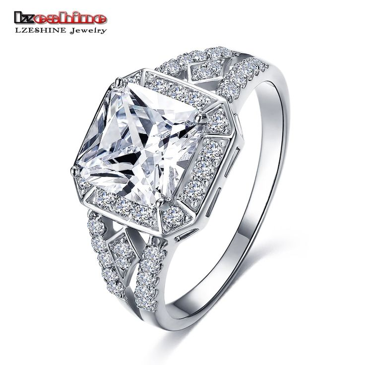 LZESHINE Exquisite Silver Color Micro Inlay Clear Zircon Ring //Price: $7.95 & FREE Shipping //     #stylish