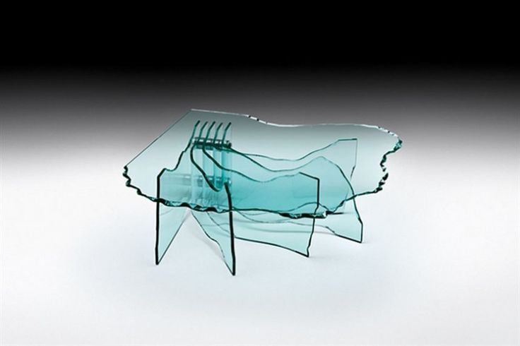 GlazenDesignTafel.nl | FIAM | glazen salontafel Shell | design by Danny Lane | glass table | vidre glastoepassingen, Leiden