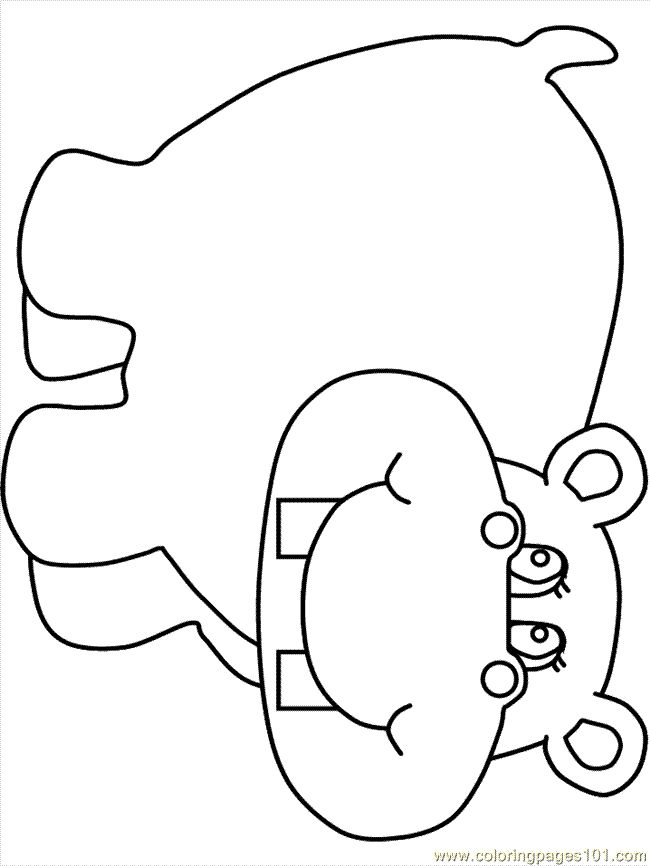 Coloring Pages Hippo2 Mammals