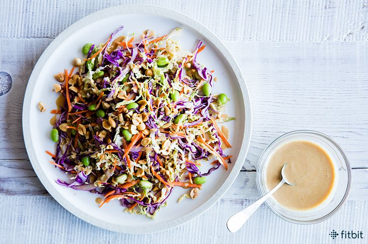 Healthy Recipe: Rainbow Salad with Spicy Peanut Dressing