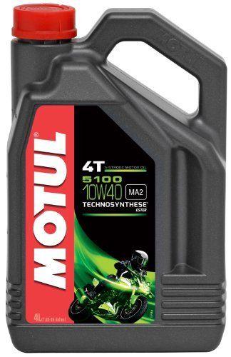 Motul 104068 5100 4T 10W-40, 4 L: Motul 5100 4T 10W40 est une huile moteur de synthèse de la techno Motul 5100 4T 10W40 est une huile…