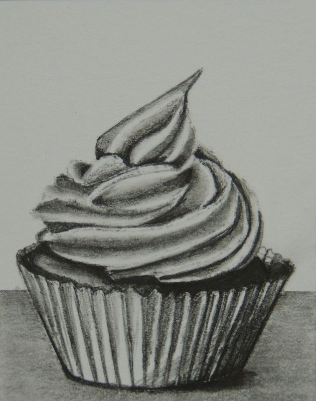 Artist Who Draws Cake : cupcake pencil drawing - Google Search Still Life Ideas ...