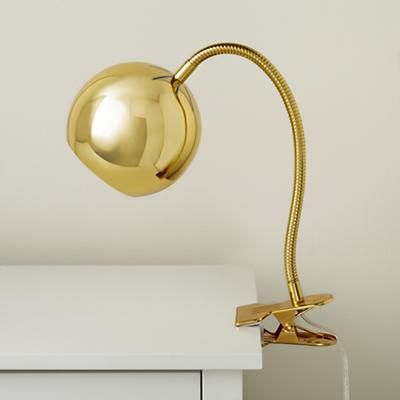 Gold Vintage Clip On Table Lamp