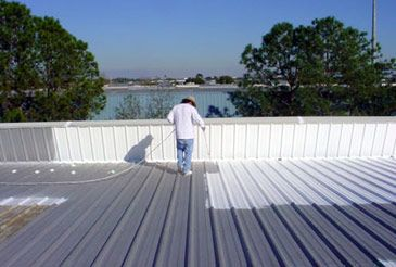 Roof coatings are used to stop leaks from the flat and residential roofs.