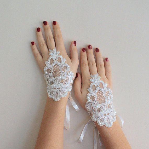 Guanti da sposa avorio guanti guanti sposa di semajewelry su Etsy