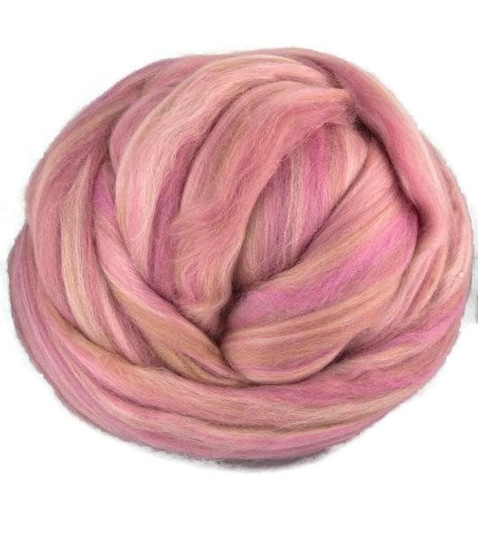 Superfine merino wool roving 19 microns 4 oz,color blend (Belletto)