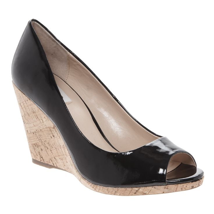 Patent Black Wedge Heels for £29.99 #fabfind