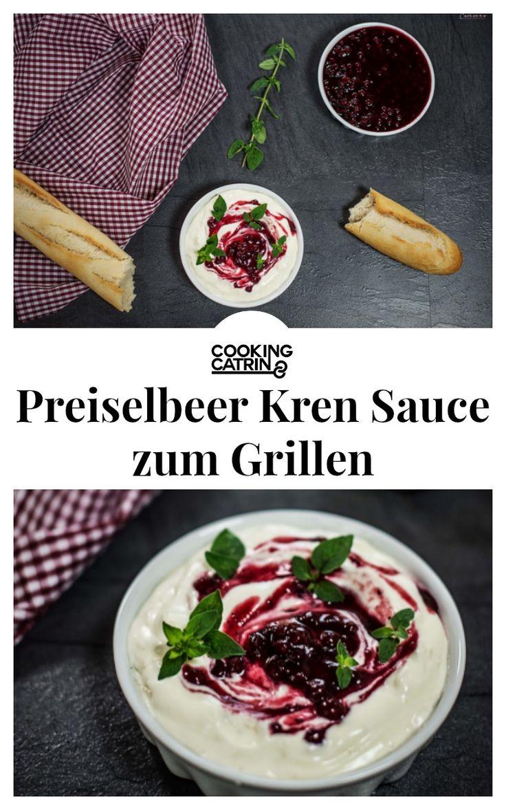 Cranberry horseradish dip, grill gip, bbq dip, Kren Sauce, Preiselbeersauce, Kren-Preiselbeer-Dip
