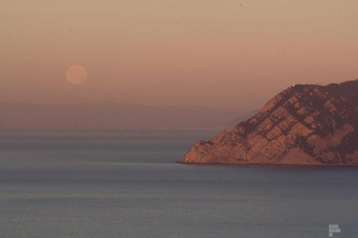 Punta Mesco and the moon