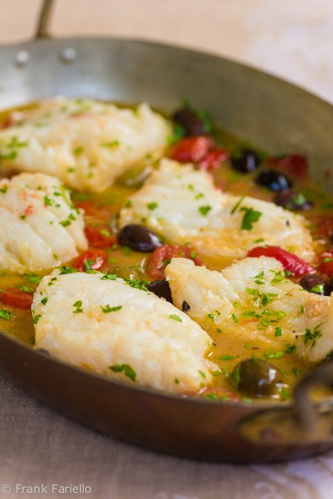 "Pesce all'acqua pazza (Fish Poached in ""Crazy Water"") - fast, easy and delicious. It can largely be made with pantry items."