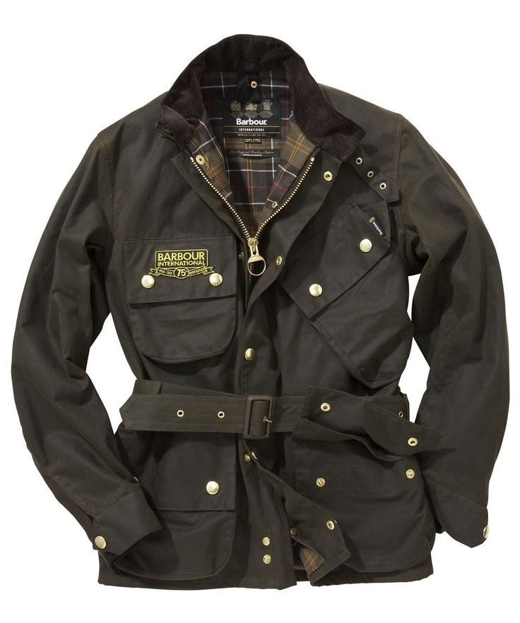 Mens Barbour International 75th Anniversary Waxed Jacket