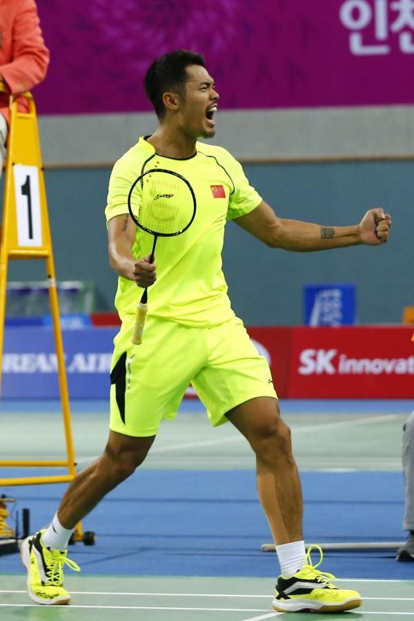 北京・ロンドン五輪男子シングルス金メダリスト林丹。スポーツバドミントン選手