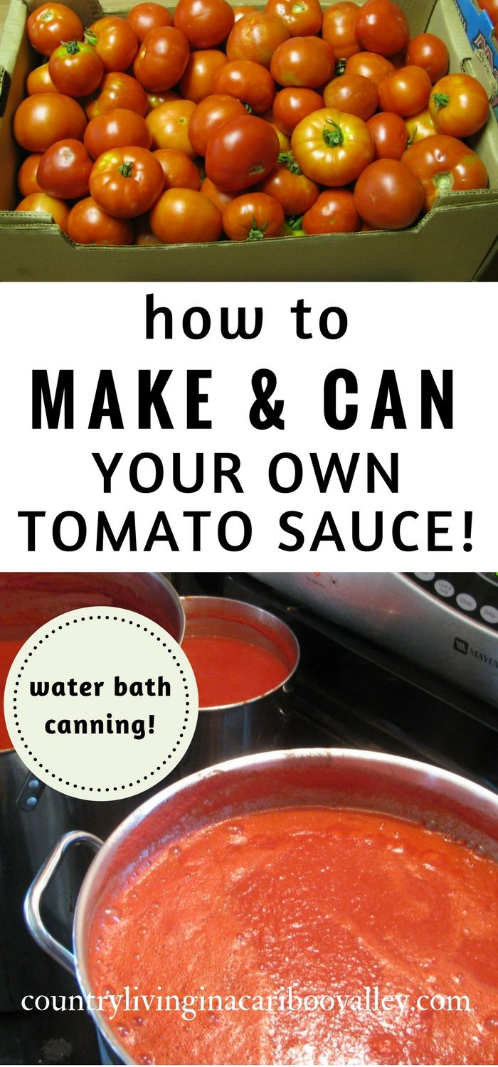 Tomato sauce - pretty easy to make and you water bath can it to preserve it. Here's how to make tomato sauce and can tomato sauce.