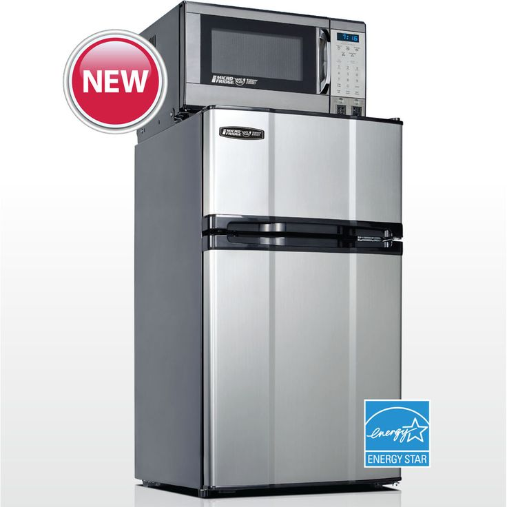 MicroFridge Combination Appliance  Model 3.1MF4-7D1S Stainless Steel for students living in dorm rooms or apartments at college or boarding school, on campus or off.