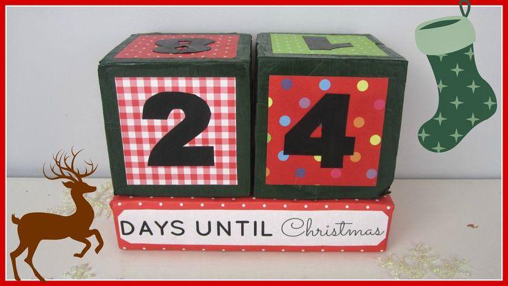 StyleNovice: Christmas ❄ DIY Xmas Countdown Cubes