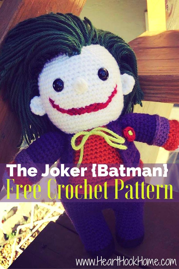 The Joker (Batman) Amigurumi FREE Crochet Pattern http://hearthookhome.com/the-joker-batman-amigurumi-free-crochet-pattern/