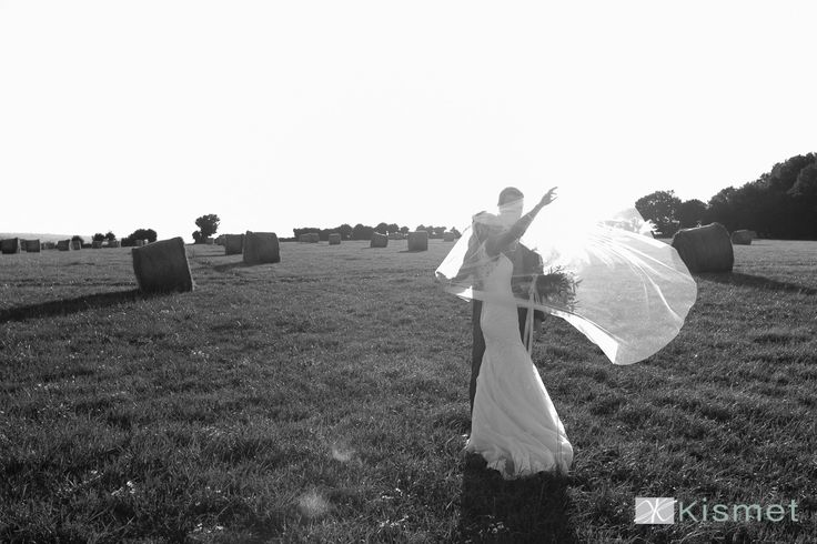 Photo from a gorgeous recent couple's wedding, evening light at the barn. #longfordbarn