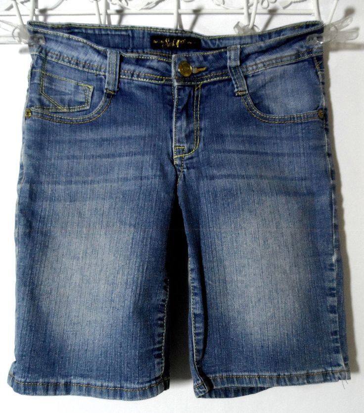 SOUTH POLE Jean Short 5 Medium wash Stud Rhinestone Urban Bling denim Punk Metro | Clothing, Shoes & Accessories, Women's Clothing, Shorts | eBay!
