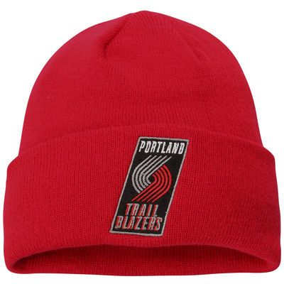 adidas Portland Trail Blazers Cuffed Knit Beanie - Red