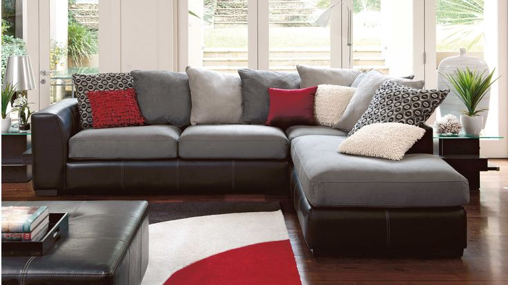 York Corner Lounge Suite with Chaise - Slate