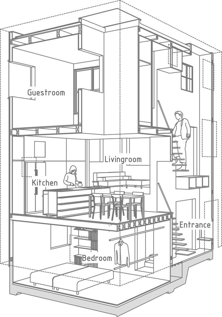 Casa en Futakoshinchi de Tato Architects y Yo Shimada