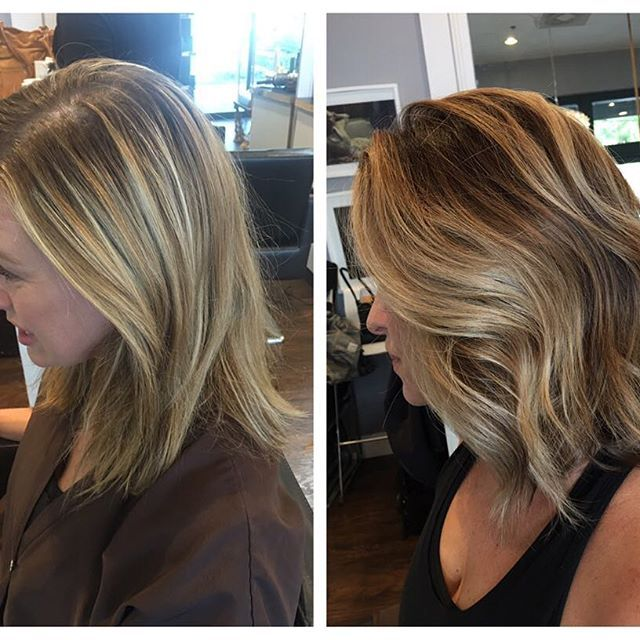 R.I.P foil highlights we are team #balayage now! #blonde #razorcut #waves #haircut #behindthechair #oribe #wellafreelights