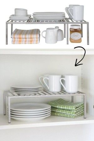 #51. Adjustable Cabinet Shelf -- 55 Genius Storage Inventions That Will Simplify Your Life