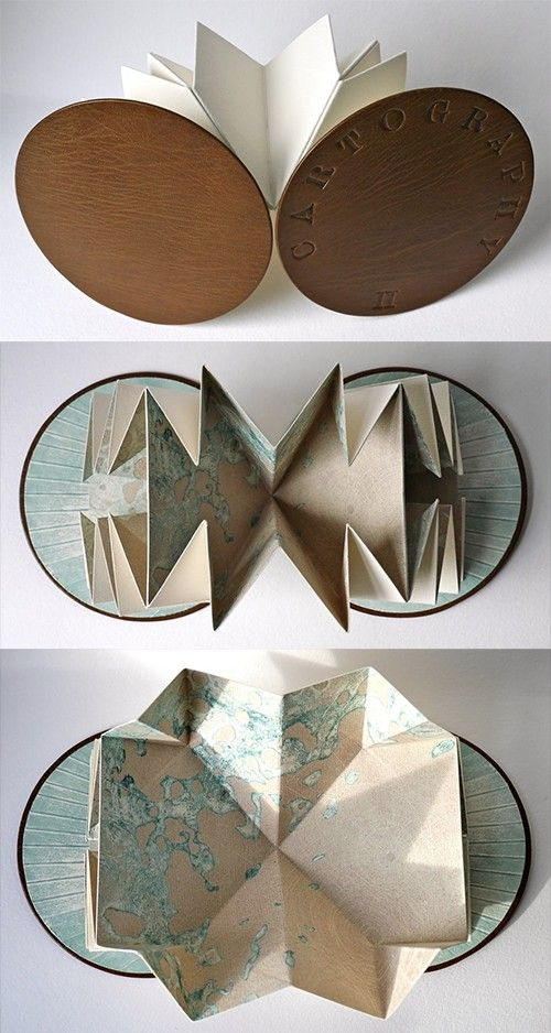 Lustik — Book Art – The Mapping Series by Louisa Boyd via...