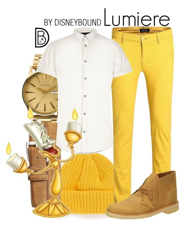 """Lumiere"" by leslieakay ❤ liked on Polyvore featuring Nixon, Topman, Torino, River Island, Lumière, Clarks, mens, men, men's wear and mens wear"