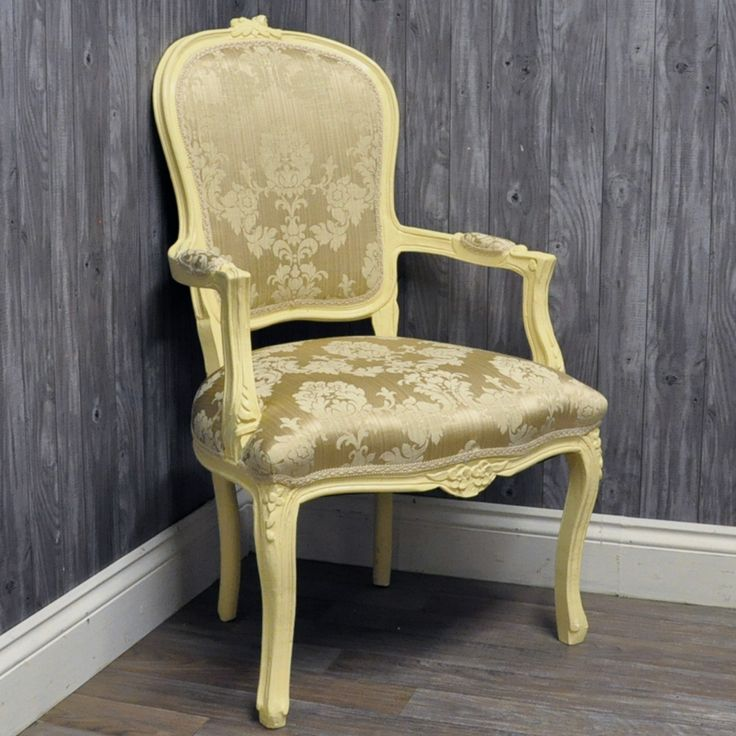 Antique Cream Finish French Style Cream Damask Louis Arm Chair83 best Louis Style Chairs images on Pinterest   French style  . Louis Style Bedroom Furniture. Home Design Ideas