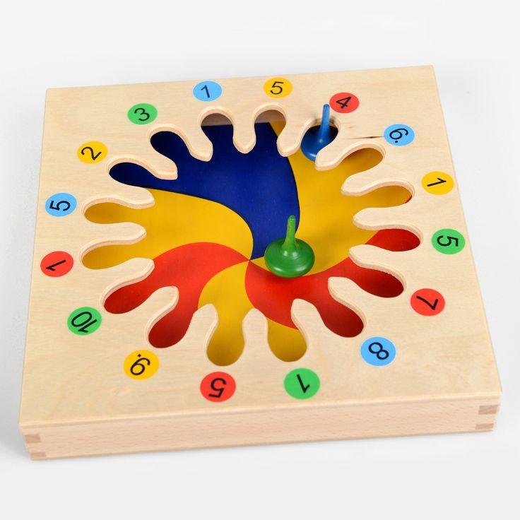 www.malinowyslon.pl Baczek Matematyczny  Bączek można wykorzystać na wiele sposobów. Mogą się nim bawić małe dzieci, które umieszczają bączek na środku planszy i zakręcają nim, a potem sterując odpowiednio planszą próbują umieścić bączek w zatoczce.  Kolejność zatoczek zależy od ich fantazji.  Można iść po kolei począwszy od 1 do 10 lub kierować bączek po przekątnej.