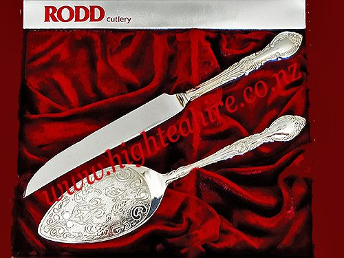 Rodd Silver Cake and Knife set for hire