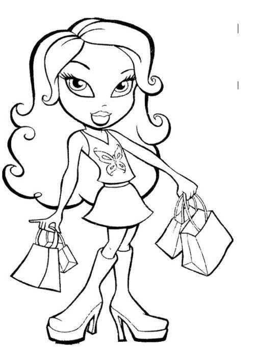 brat doll coloring pages | Best 440 Bratz images on Pinterest | Kids and parenting ...