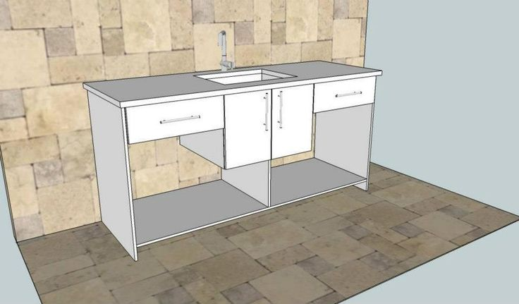 Created by Dimension Cabinets - Bathroom vanity design.