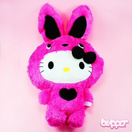 Hello Kitty Colorful Bunny plush (pink)