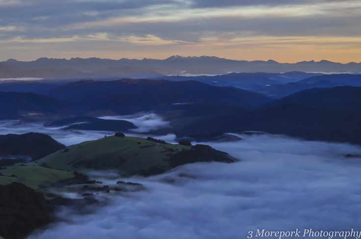 Dawn view from Mt Robert, South Island
