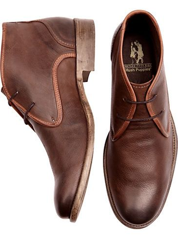 Hush Puppies Bruno Brown Chukka Boots