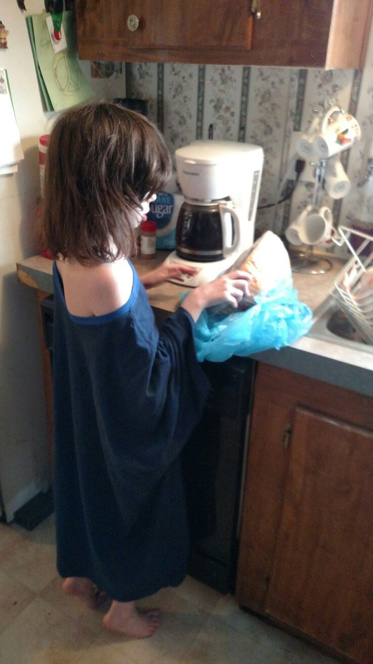 Granddaughter Olyvia checks out the Thanksgiving Ham