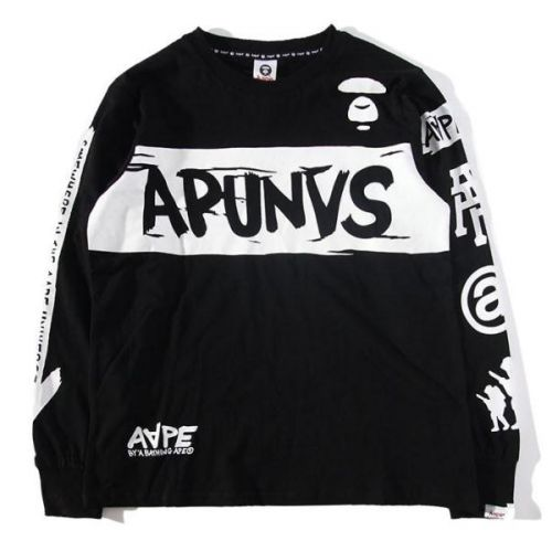 """So true to be Cool in your AAPE """"APUNVS Somewhere In The AAPE Universe Sleeve Crewneck"""" Sweater     http://superdap.com/outerwear/sweaters/aape-apunvs-somewhere-in-the-aape-universe-sleeve-crewneck-sweater-black   #aape #streetwear #streetfashion #urbanwear #aapesweater"""