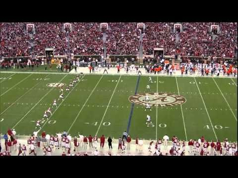The second ranked Crimson Tide of Alabama racked up nearly 500 yards of total offense, and scored on its first seven possessions, en route to a 49-0 victory over the arch-rival Auburn Tigers.