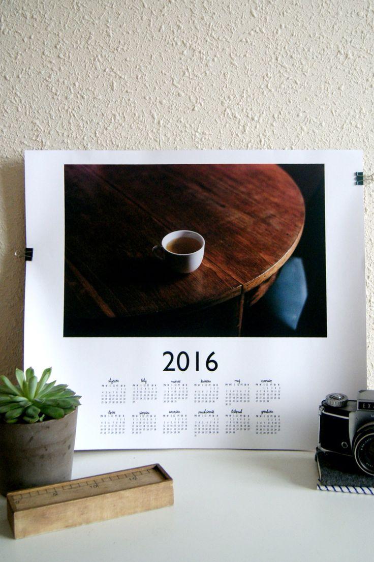 """kalendarz 2016 """"tea time"""" #analogowelowe #papieriwełna"""
