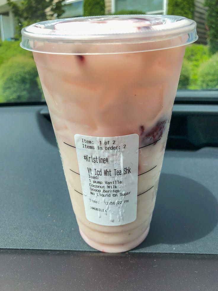 Starbucks Iced White Tea with Blackberries | Healthy ...