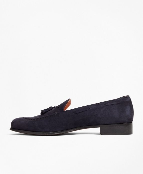 Suede Tassel Loafers - Brooks Brothers