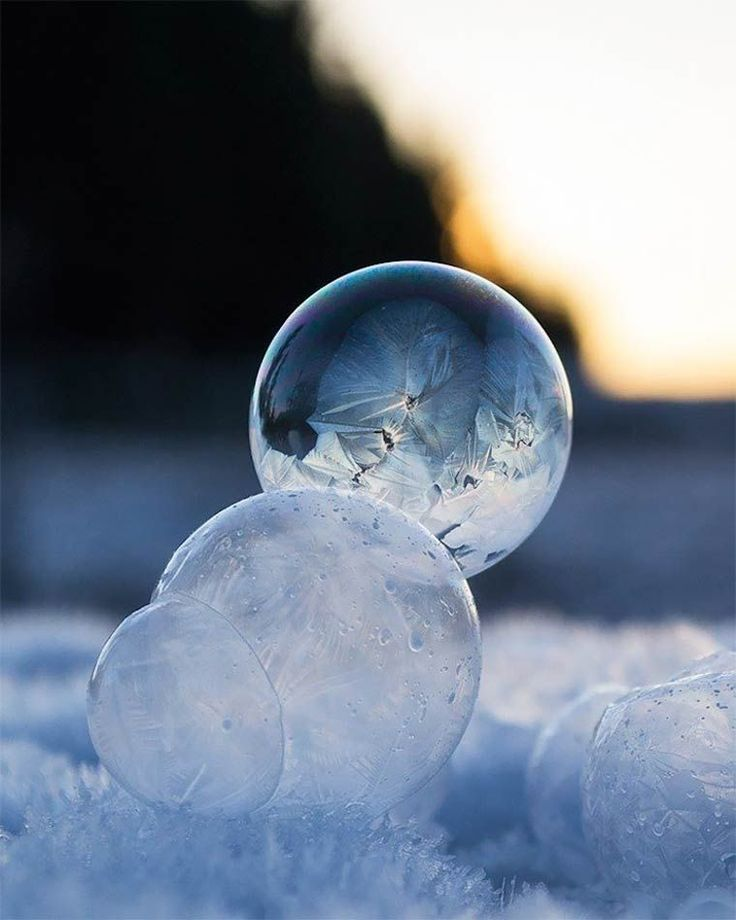 Une photographe capture de magnifiques bulles de savon gelées- A photographer captures beautiful frozen soap bubbles.