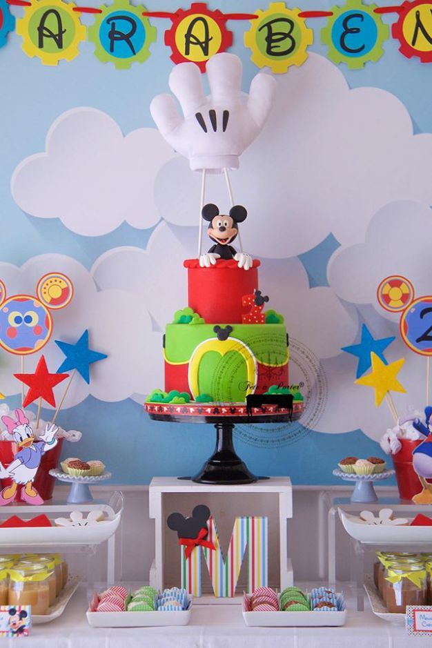 Mickey mouse clubhouse 2nd birthday cake Fiesta de