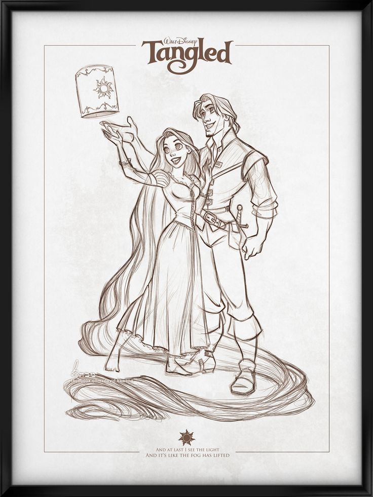 Walt Disney's Signature Collection - TANGLED by davidkawena.deviantart.com on @deviantART